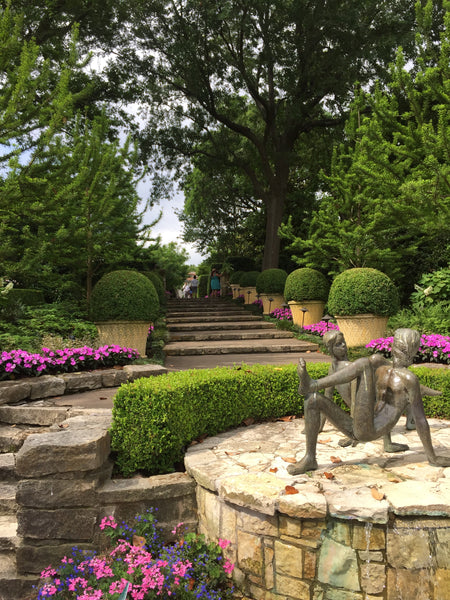 More inspiration from the Dallas arboretum on how to decorate your own garden