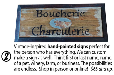 Wooden European Hand Painted Signs