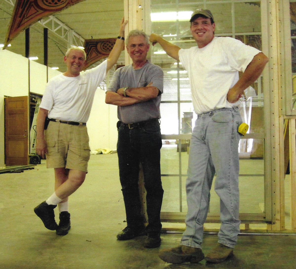 Photo of Don Mayborn and Ward Mayborn, original owners, with now owner Scott Mayborn