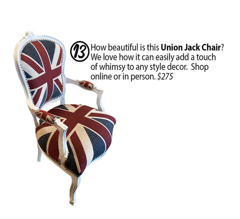 Union Jack Chair with Arms