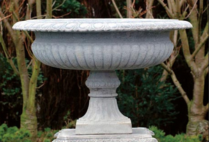 Large Diameter and Shallow Depth Urn, Cast Stone Urn, Concrete Urn