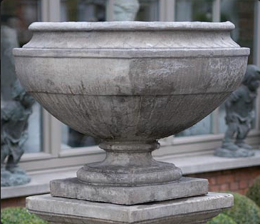 Garden, Urn, Fluted Bottom, Federal Courthouse Style, 2159, RG76