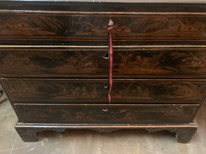 Close up of drawers of 18th Century Northern Italian Secretary