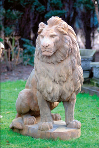 Cast Stone Large Lion, Concrete Statue