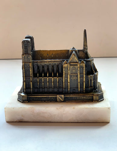 Cathedrale De Reims on Marble Base