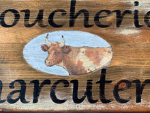 close up of cow transfer, boucherie, charcuterie