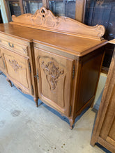 Side of Light Oak French Sideboard