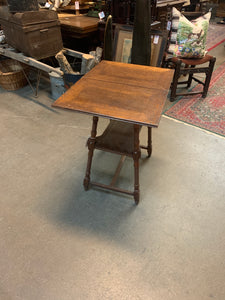 SMALL GAME TABLE, Adjustable top, Turned Legs