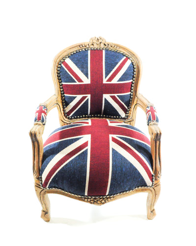 Chair, Union Jack Children's Chair, Natural