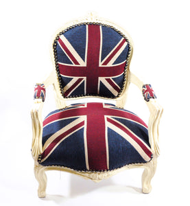 Chair, Union Jack Children's Chair, White