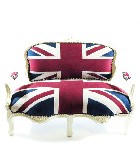 Bench, Union Jack Children's Bench, White