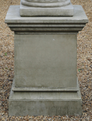 Large Cast Stone Square Plinth, Concrete Statue