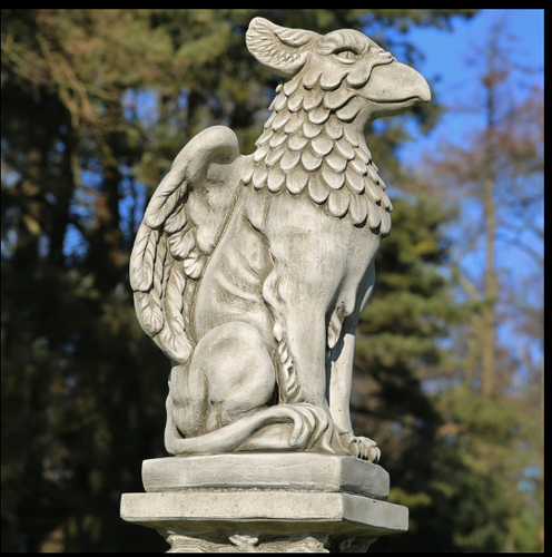 Cast Concrete Feathered Griffin Statue