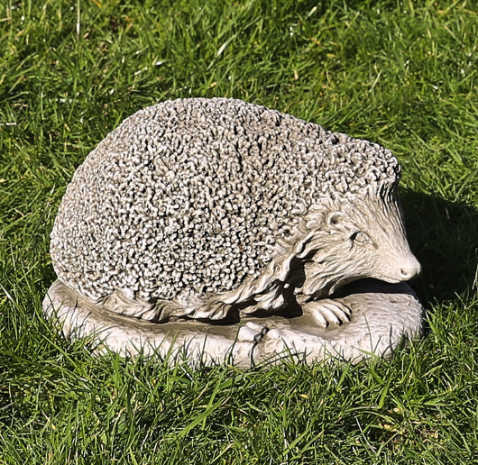 Small Cast Stone Hedgehog, Concrete Statue
