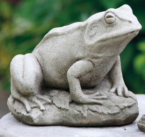 Cast Stone Frog Statue
