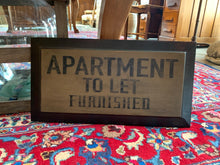"""Apartment to Let Furnished"" Hand-Painted Wood Sign"