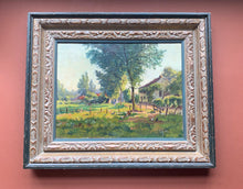 Framed Painting of Farmhouse with Animals