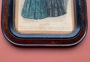 Framed Victorian Dress Print - Black and Green
