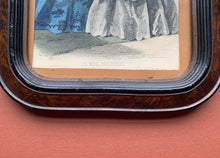 Close up of Wood Frame of Framed Victorian Dress Print