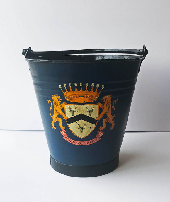 Blue Bucket with British Crest Transfer