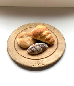 European Bread Board with Flower