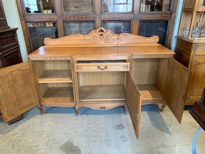 Interior of Light Oak French Sideboard