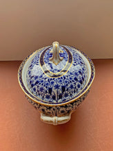 Side of Blue and White Derby Lily Soup Tureen with Lid