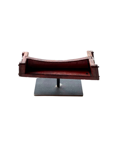 Vintage Red European Wood Foundry Mold on Stand