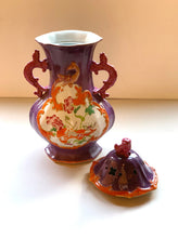 Top of Purple and Orange Oriental Urn