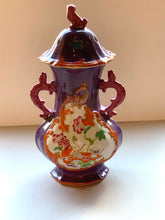 Back of Purple and Orange Oriental Urn