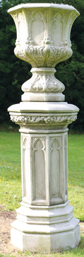 Gothic Urn on Plinth