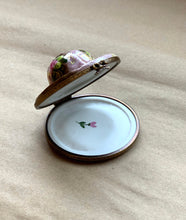 Inside of Floral Ladies Hat Limoges