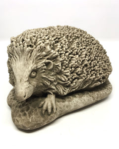 Front of Small Cast Stone Hedgehog, Concrete Statue