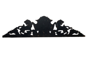 Black Forest Style Cornice with Wolf Head and Lions