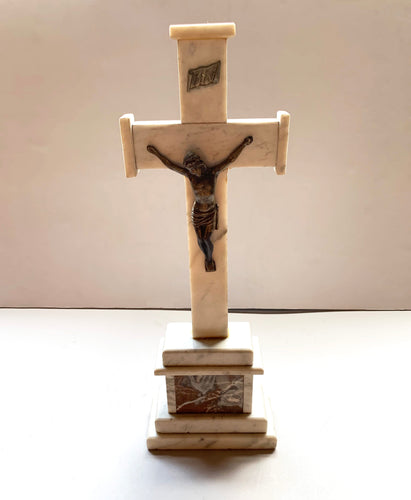 Marble Crucifix with Jesus Christ statue