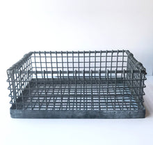 Empty Small Industrial Metal Crate