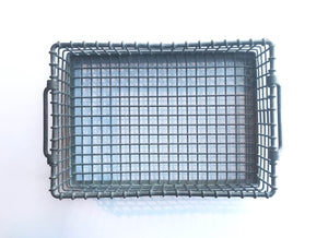 Top of Small Metal Industrial Crate
