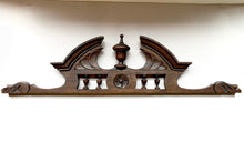 Carved Oak Cornice with Finial