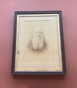 Framed Print of Man with White Beard, Portrait