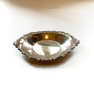 Decorative Small Platter, Silver Dish