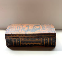 Back of European Primitive Marquetry Box