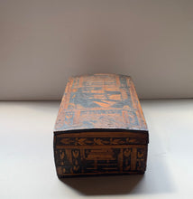Side of European Primitive Marquetry Box