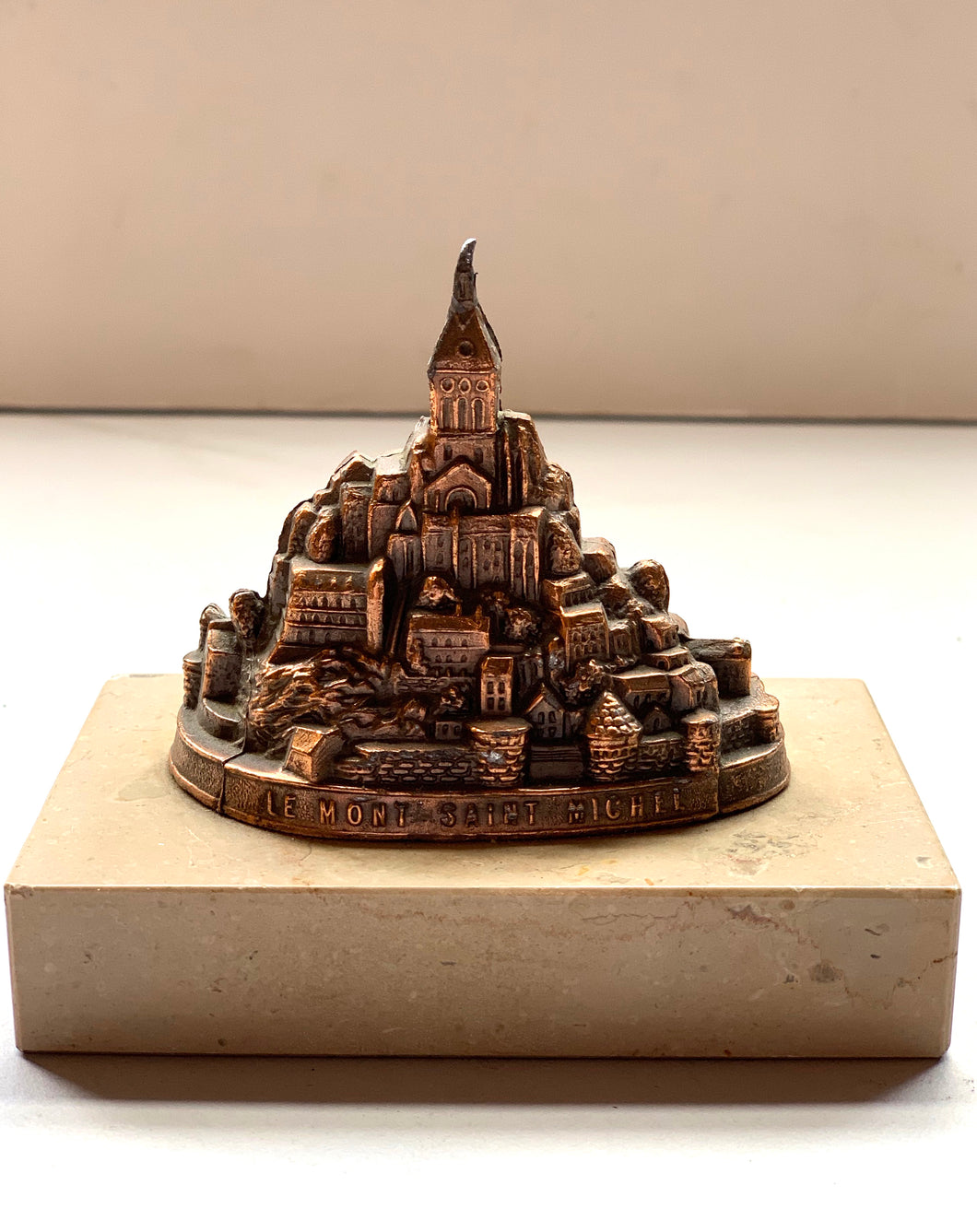 Le Mont Saint Michel on Marble Base