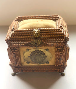 Tramp Art Box with Star Details