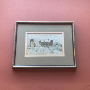 Framed Snowy House Print