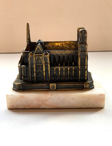 Back of Cathedrale De Reims on Marble Base Souvenir