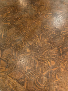 Parquet Oak Table with Extenders