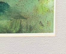Close up of signature on Watercolor of Barn and Cows