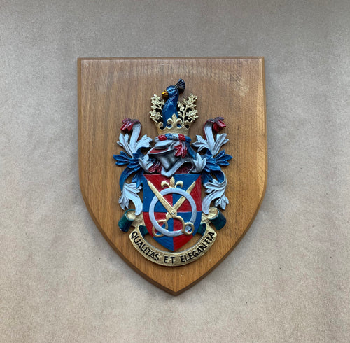 Resin Crest on Wood Plaque