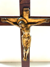Wooden Crucifix with Gold Christ